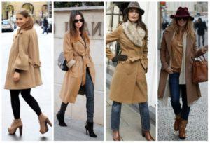 Разная обувь под женское пальто