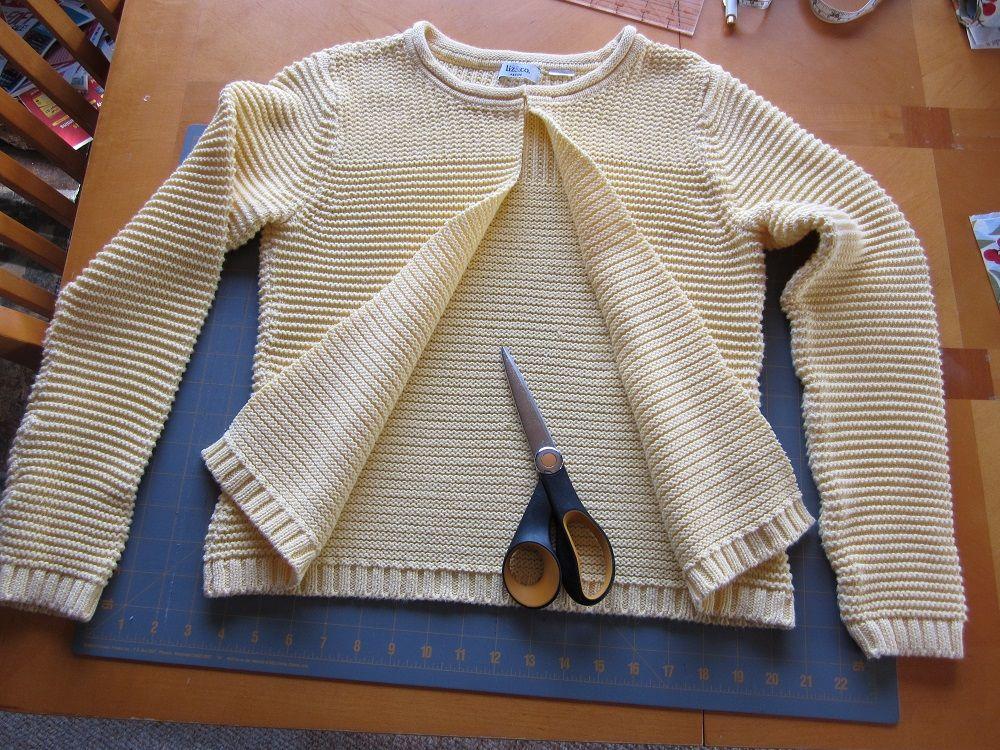Переделка свитера в кардиган