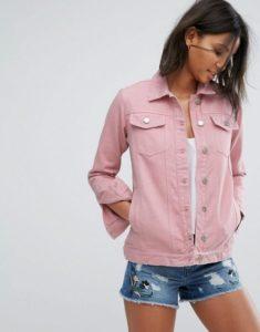 Розовая женская джинсовка