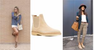 аксессуары для бежевых ботинок
