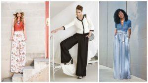 варианты комбинаций с брюками марлен