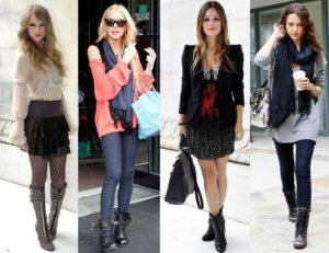 Разные образы с чёрными ботинками
