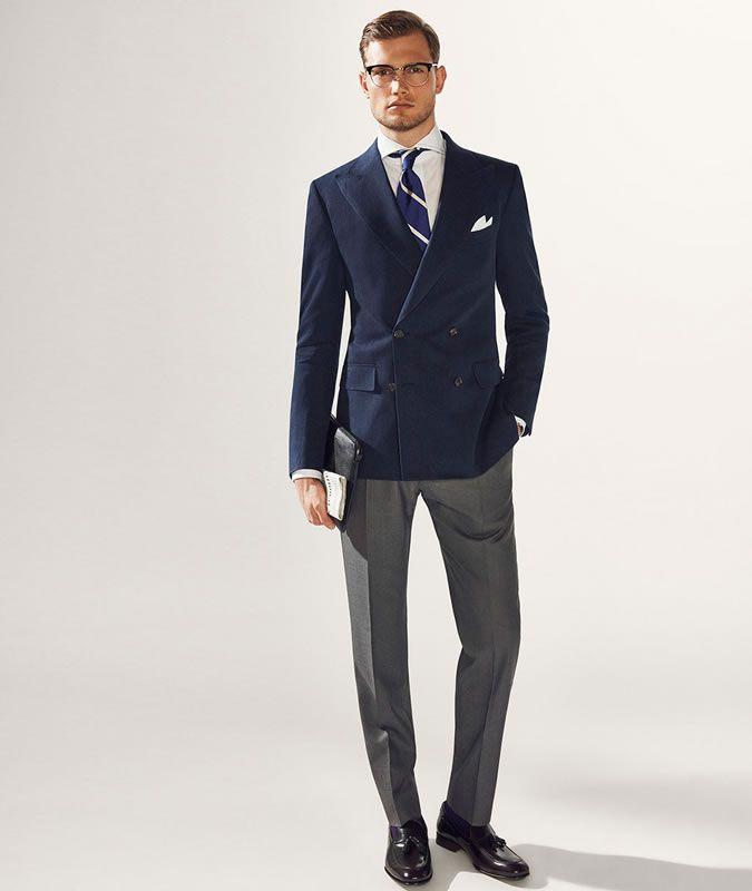 Пиджак и классические брюки