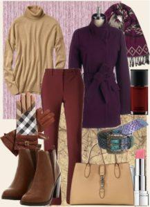 Подбор одежды к коричневой водолазке