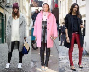 бордовые кожаные брюки