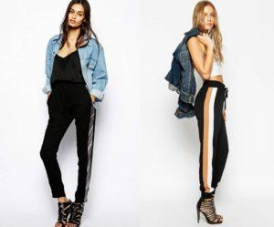 спортивные брюки с джинсовкой