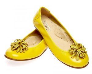 Жёлтые балетки