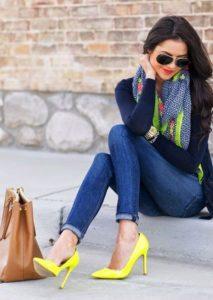 Туфли-лодочки с джинсами