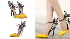 Нарядные жёлтые туфли