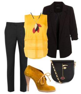 Модное сочетание желтого с чёрным