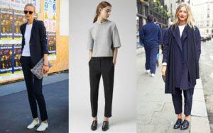 Женские оксфорды с брюками