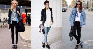 Оксфорды с джинсами и брюками