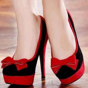 Красно-чёрные туфли