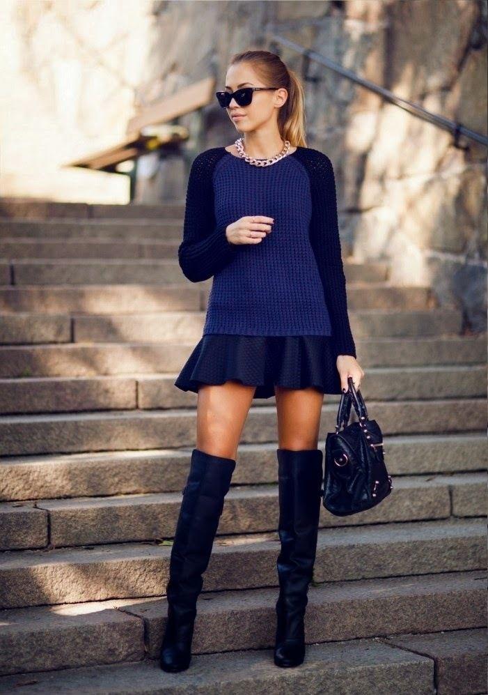 Синие ботфорты