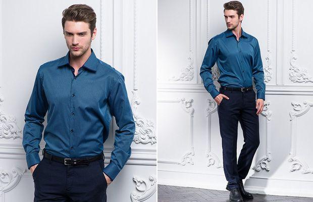 Классическая рубашка к брюкам
