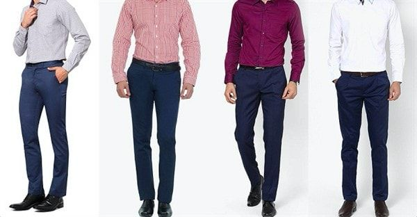 Рубашки под синие брюки