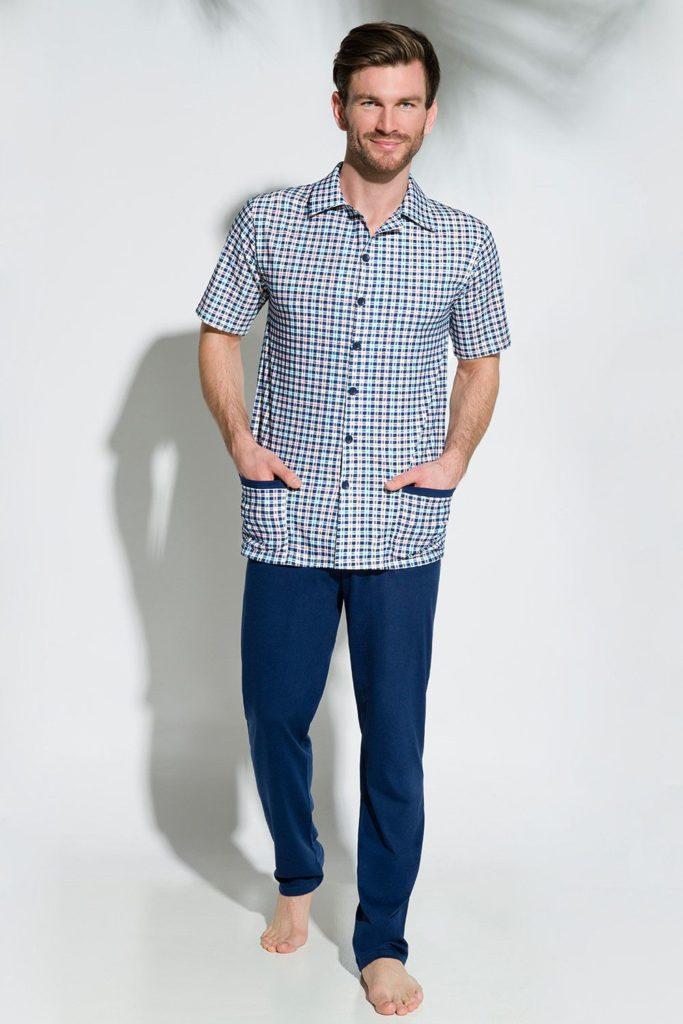 Рубашка к синим брюкам