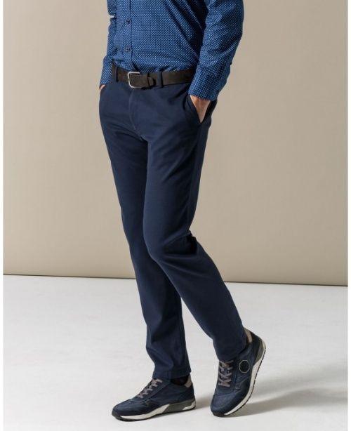 Синяя рубашка к синим брюкам