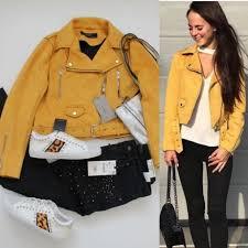Сочатание с замшевой жёлтой курткой