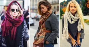Современные идеи ношения шарфа с пальто