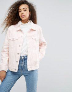 Светло-розовая джинсовка