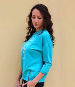 Женский голубой свитшот