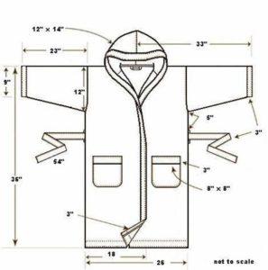 Выкройка детского халата - прямой силуэт