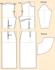 Кроим домашний халат приталенный