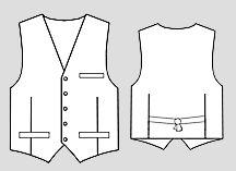 Рисунок мужского жилета
