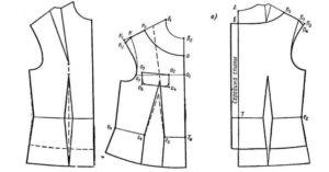 Построение выкройки женского жилета