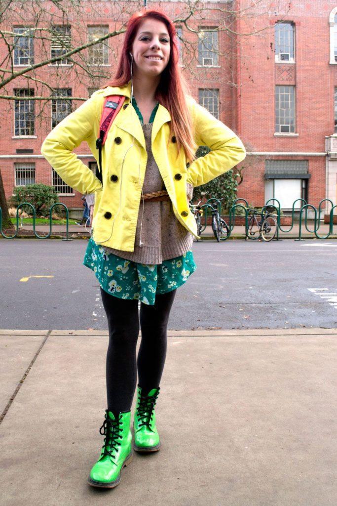 Зеленые ботинки