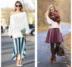Что подобрать к белому свитеру?