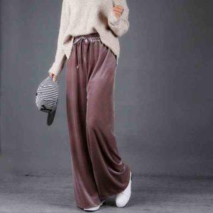 бархатные брюки с джемпером