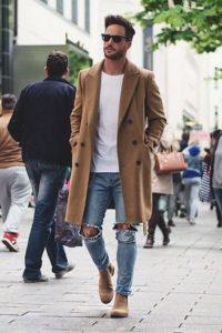 Бежевые туфли для мужчин