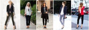босоножки к женским классическим брюкам