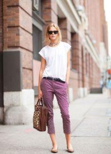 летняя обувь к укороченным брюкам