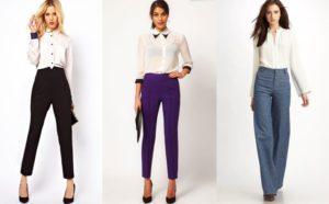 девушки в брюках