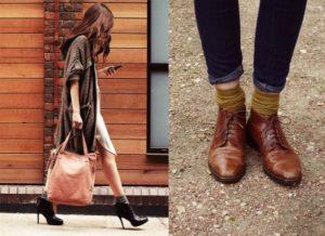 ботинки на каблуках с носками
