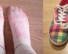 красится обувь внутри