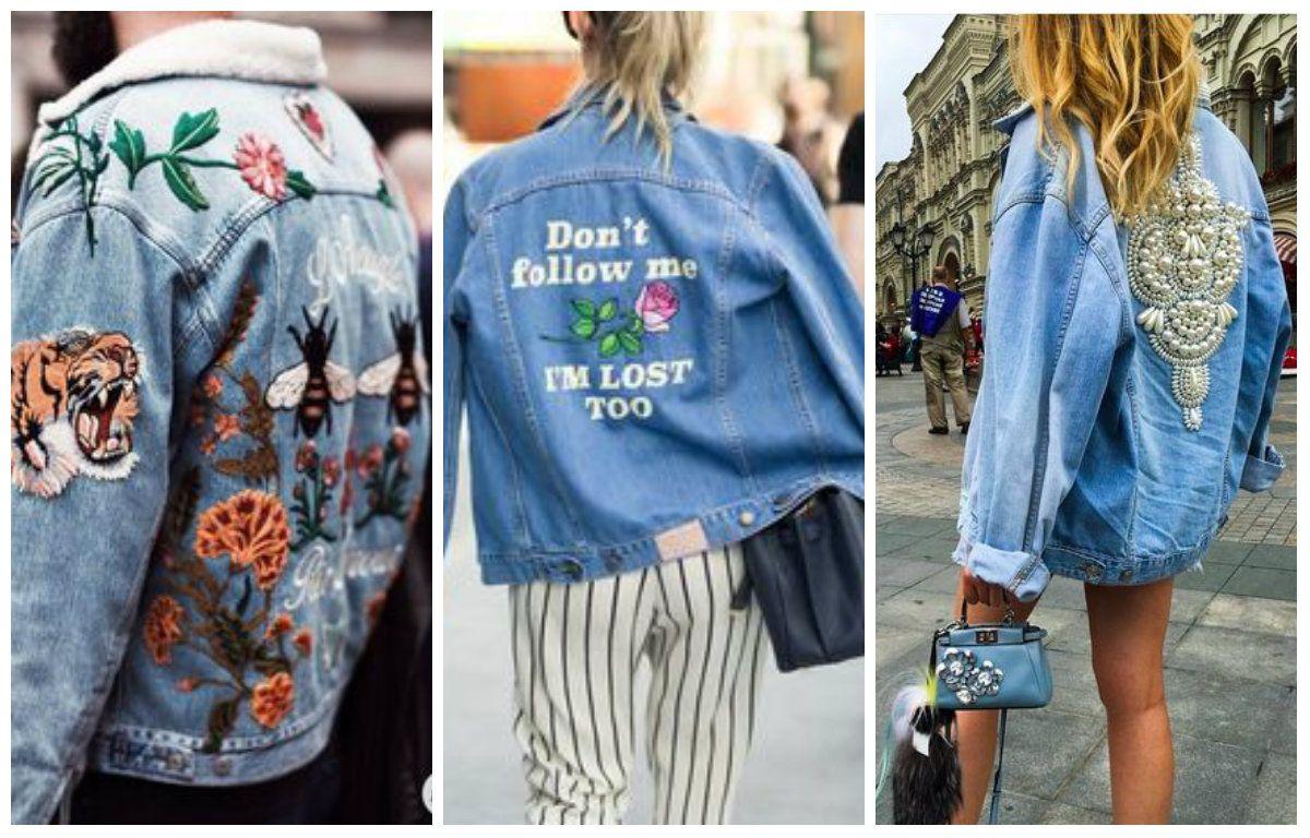 декорирование джинсовой куртки