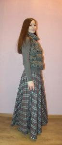 длинная юбка и пуховик-кофта