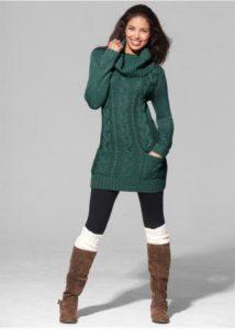 Гетры со свитером-туникой