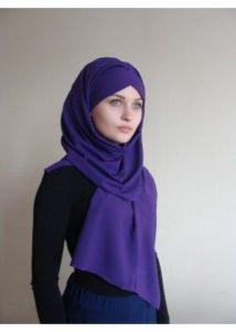 фиолетовый хиджаб
