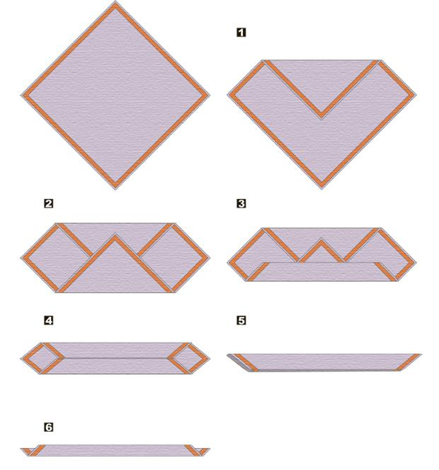 Способы складывания платка