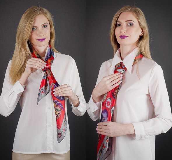 Завязать платок как галстук