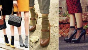 как носить носки с туфлями женщинам
