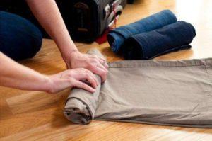 скручивание брюк