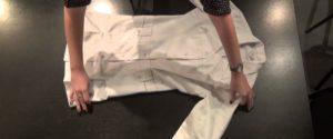 складывание халата