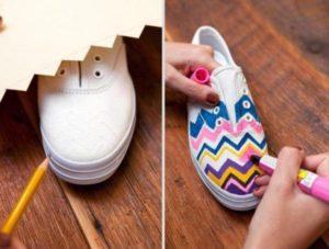 рисование на туфлях