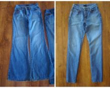зауживание джинсов